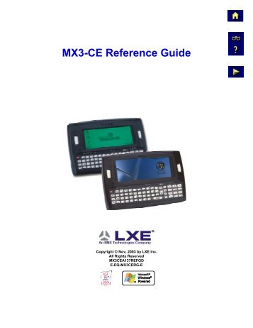 MX3-CE Reference Guide - Southern Graphics & Systems