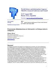 Promoviendo Alfabetizaciones en Información - Cedoc