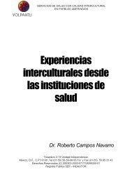 Experiencias interculturales desde las instituciones de salud