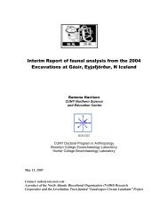 Interim Report of faunal analysis from the 2004 Excavations ... - Nabo