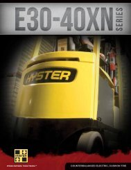COUNTERBALANCED ELECTRIC, CUSHION TIRE - Hyster Company