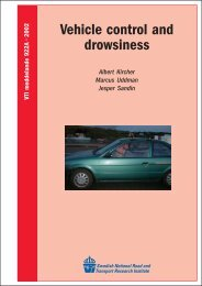 Vehicle control and drowsiness - VTI