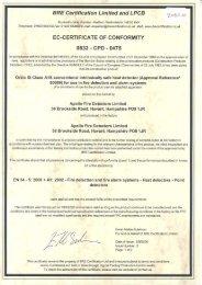 Certificate of Conformity - Ampac