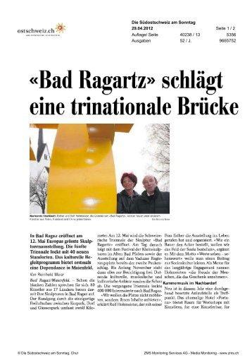Südostschweiz am Sonntag - Bad Ragartz