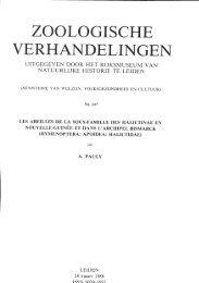 VERHANDELINGEN - Laboratoire de Zoologie