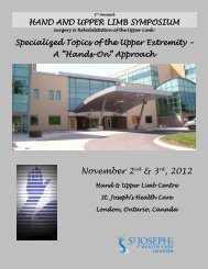 November 2nd & 3rd, 2012 - Canadian Society of Hand Therapists