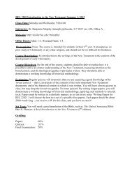 REL 2240 Introduction to the New Testament Summer A ... - Mailer Fsu