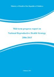 National Strategy on Reproductive Health 2006-2015