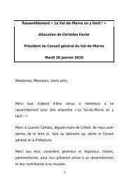 Discours intégral de Christian Favier - Conseil général du Val-de ...