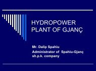 HYDROPOWER PLANT OF GJANÇ - Narucpartnerships.org