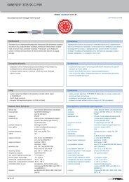 KAWEFLEX® 3225 SK C PUR - TKD-KABEL | Продукция