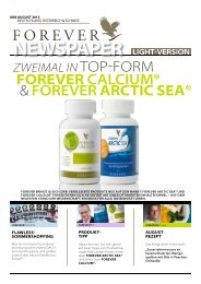 August 2013 - Forever Living Products Austria
