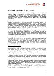 PT atribui Escola do Futuro a Beja - PT Escolas - Portugal Telecom