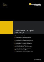 Threadneedle UK Equity Fund Range - Threadneedle Investments