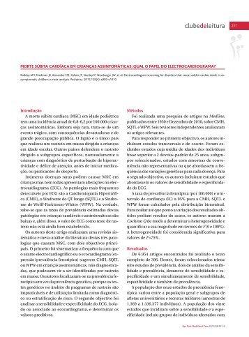 Clube de leitura - Associação Portuguesa de Medicina Geral e ...