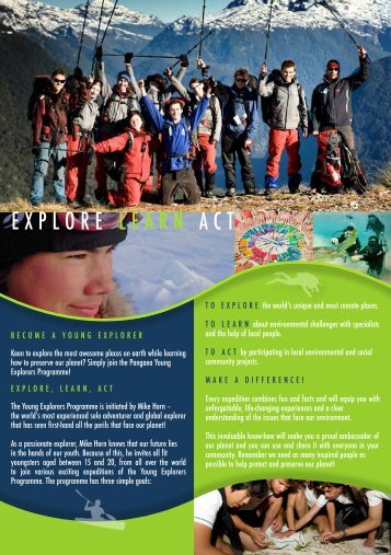 EXPLORE LEARN ACT - Pangaea Young Explorers Community