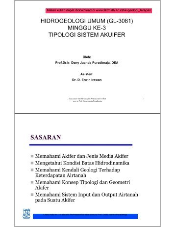 week3-gl-2121-general-hydrogeology-tipologi-akuifer1 - ITB