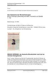 Das Geheimnis der Wunderheilungen - Teil 1 - Bruno Gröning Stiftung