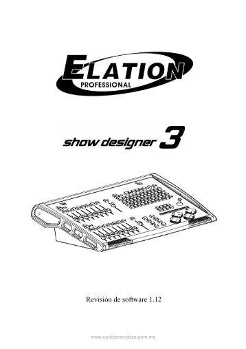 Manual en español Show Designer 3 - Carlosmendoza.com.mx