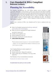 Health Care Catalogue 1 - Architectural Hardware Direct