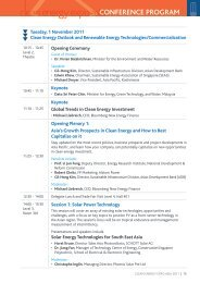 CONFERENCE PROGRAM - Clean Energy Expo