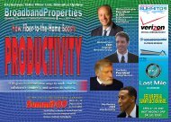 see our special summit section inside. - Broadband Properties
