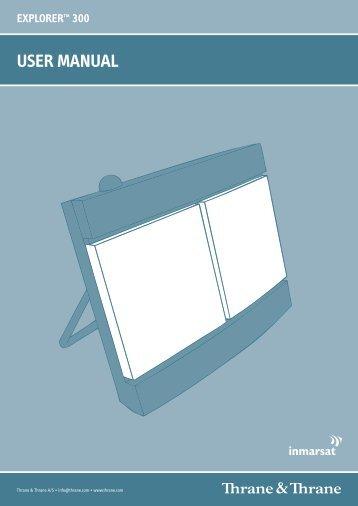 Thrane Explorer 300 user manual