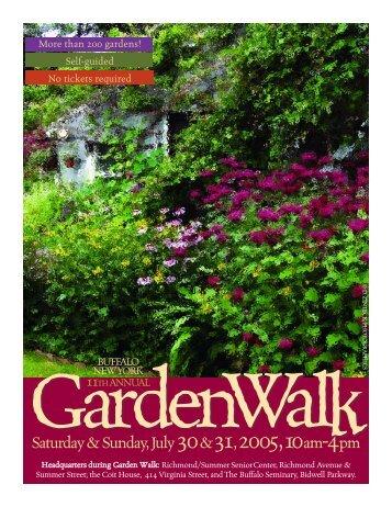 Saturday& Sunday, July30&31,2005,10am-4pm - Garden Walk Buffalo