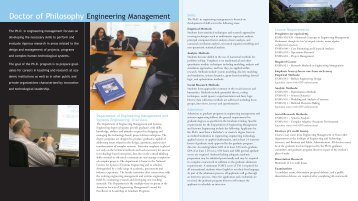 Ph.D. in Engineering Management - College of Engineering and ...