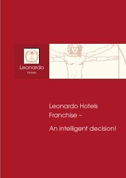 Leonardo Hotels Franchise – An intelligent decision!