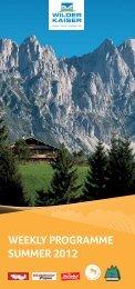 weekly programme Summer  2012 - Hotel Tyrol