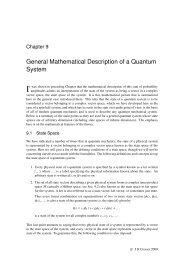 General Mathematical Description of a Quantum System