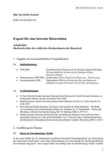 expose dissertation germanistik