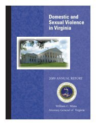 Domestic Violence Annual Report - Office of the Attorney General