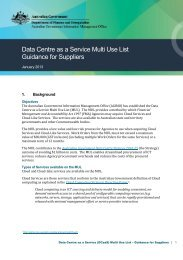 Data Centre as a Service (DCaaS) Multi Use List