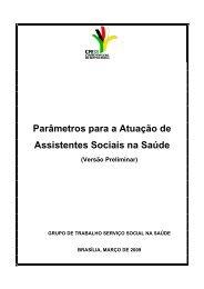 Parâmetros para Atuação de Assistentes Sociais na Saúde - CFESS