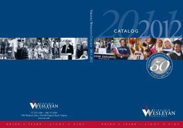 2011-2012 Catalog - Virginia Wesleyan College