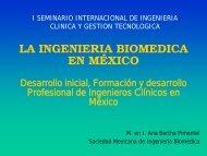 la ingenieria biomedica en méxico - Centro Panamericano de ...
