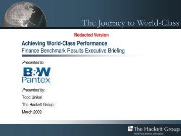 Pantex Finance Benchmark Redacted Presentation