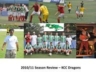 KCC FOOTBALL SECTION AGM 2010-11 Dragons Presentation