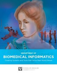 BIOMEDICAL INFORMATICS - Vanderbilt School of Medicine ...