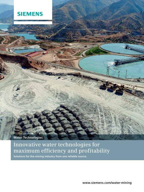 Solutions for the mining industry - Siemens