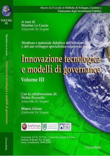Innovazione tecnologica e modelli di governance - Università degli ...