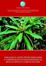 avaliação e ações prioritárias para a conservação da ...