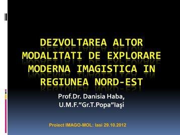 Tehnici moderne de explorarea IRM - IMAGO-MOL