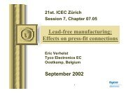 Lead free manufacturing - TE Connectivity