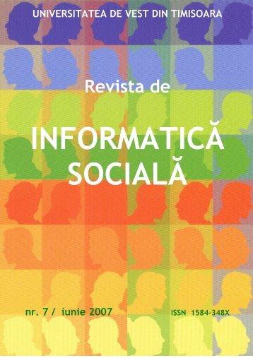 Revista de - Journal of Social Informatics / Revista de Informatica ...