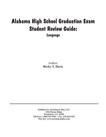 Alabama High School Graduation Exam Student ... - Enrichment Plus