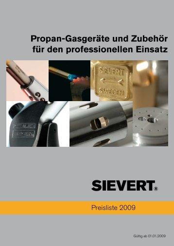 Propan-Gasgeräte und Zubehör für den professionellen ... - Sievert AB