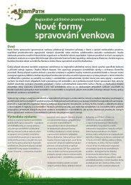 Nové formy spravování venkova - FarmPath